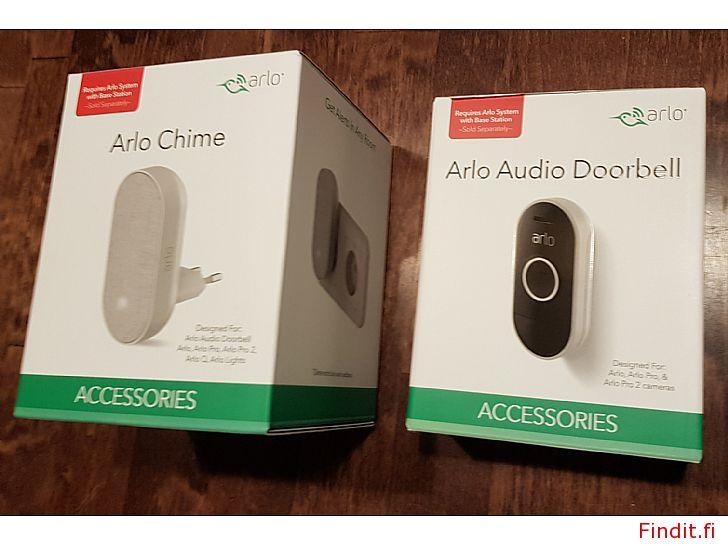 Säljes Arlo Audio Doorbell -dörrklocka och Arlo Chime -högtalare