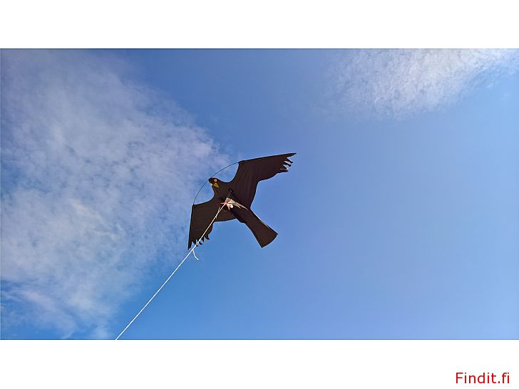 Säljes Fågelskrämma flygande drake med spö och jordspett