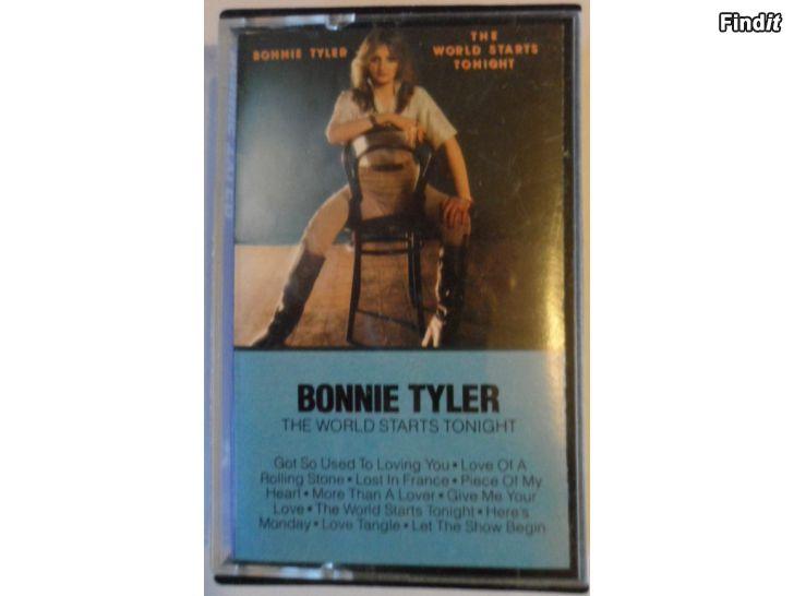 Säljes Bonnie Tyler, The Worlds Starts Tonight. Kassett