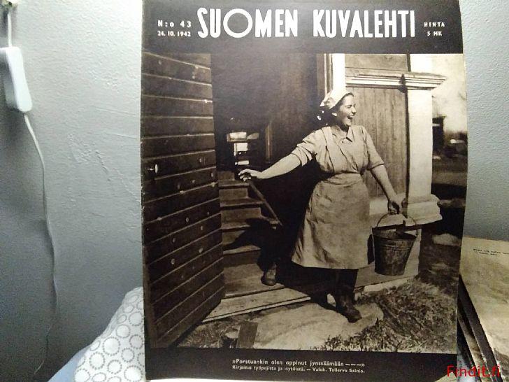 Myydään Suomen Kuvalehtiä vuodelta 1942