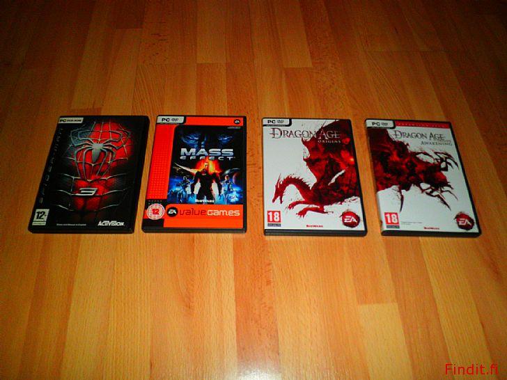 Myydään PC-pelit 4kpl DVD