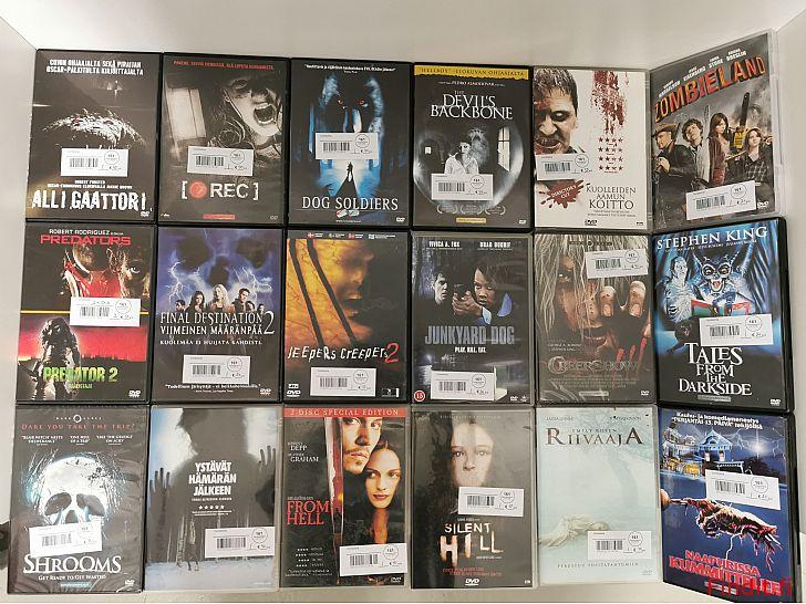 Säljes Skräckfilmer DVD skivor