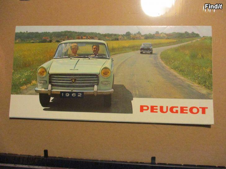 Säljes Peugeot 1962 försäljningsbroschyr