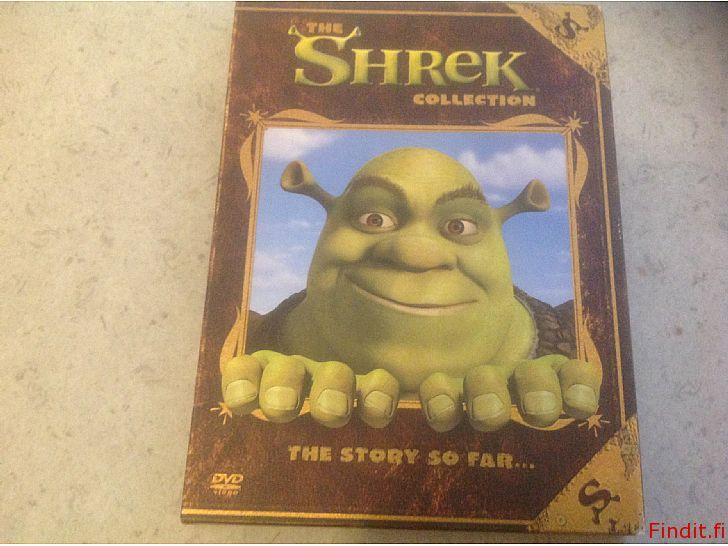Myydään Dvdt 1-2 the Shrek kokoelma, tarina tähän mennessä