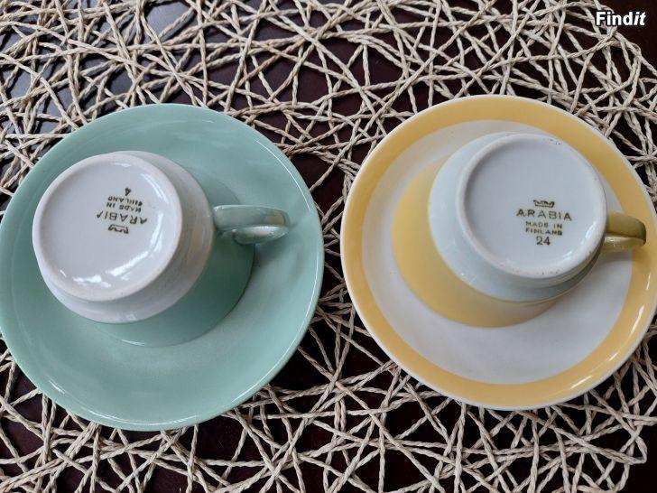 Säljes Arabia kaffekoppar