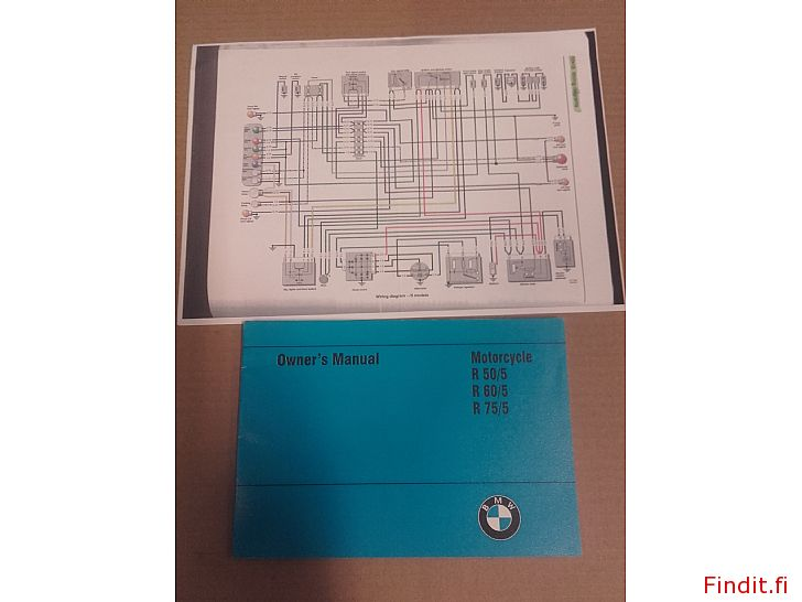 Myydään Omistajan käsikirja BMW R50/5 R60/5 R75/5