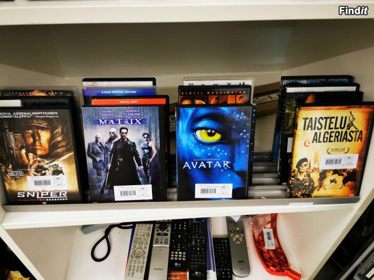 Säljes CD, DVD, C-kasetter och VHS