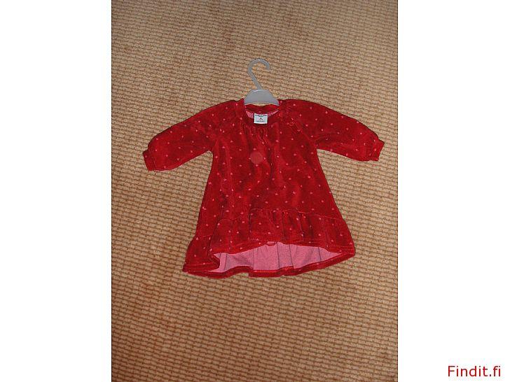 Myydään Punainen mekko  Polarn  Pyret koko 56