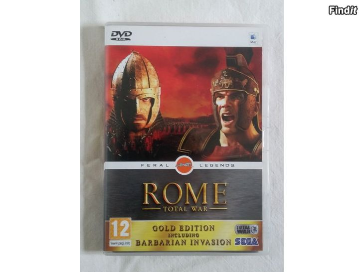 Myydään Videopeli Rome Total War Gold Edt., DVD-Rom, Mac, Apple, Sega