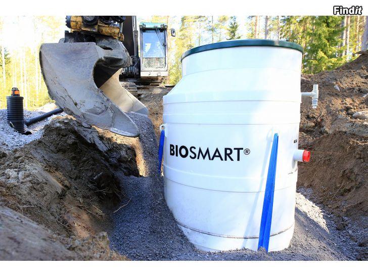 Säljes BIOSMART® minireningsverk, montering och planering