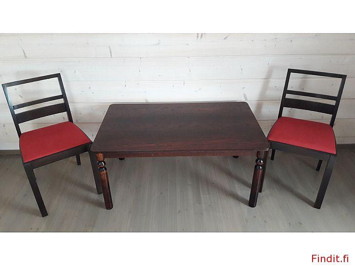 Myydään Sohvapöytä ja kaksi tuolia retroa