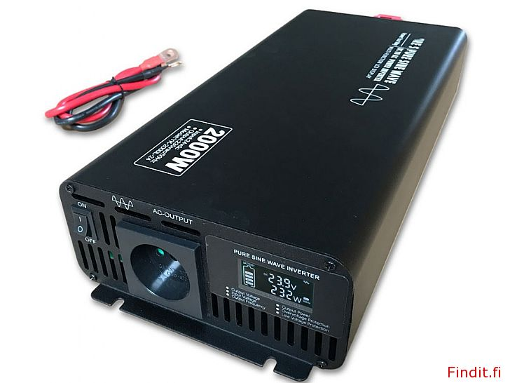 Säljes Inverter ren sinusvåg 2000W, Display, 2 års garanti