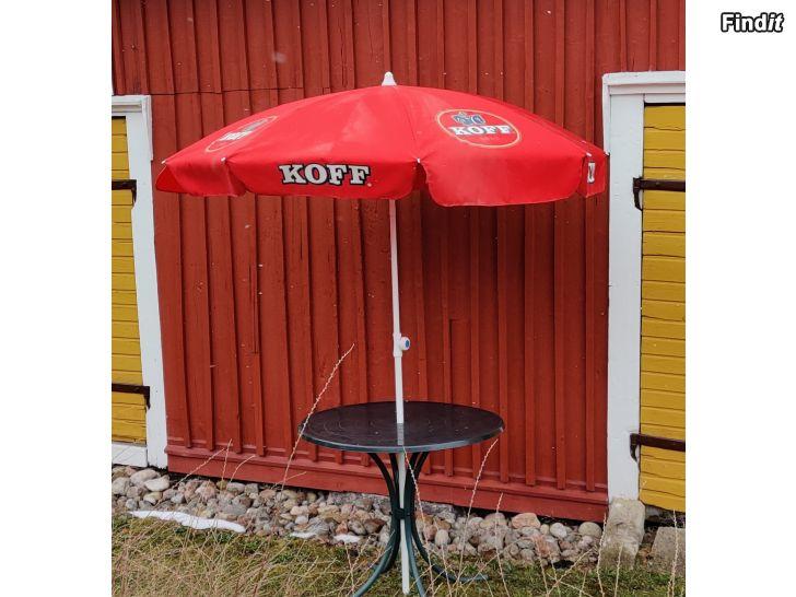 Myydään Aurinkovarjo Koff ym