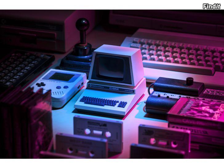 Köpes Köper upp/hämtar/räddar Amiga, Nintendo, Sega megadrive, Commodore, Atari, Spectrum, Vectrex, Mac