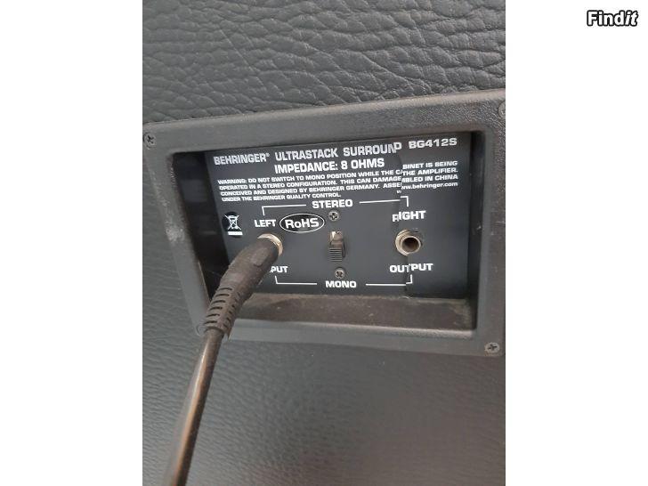 Myydään Marshall MG100HDFX setti + Behringer BG412S