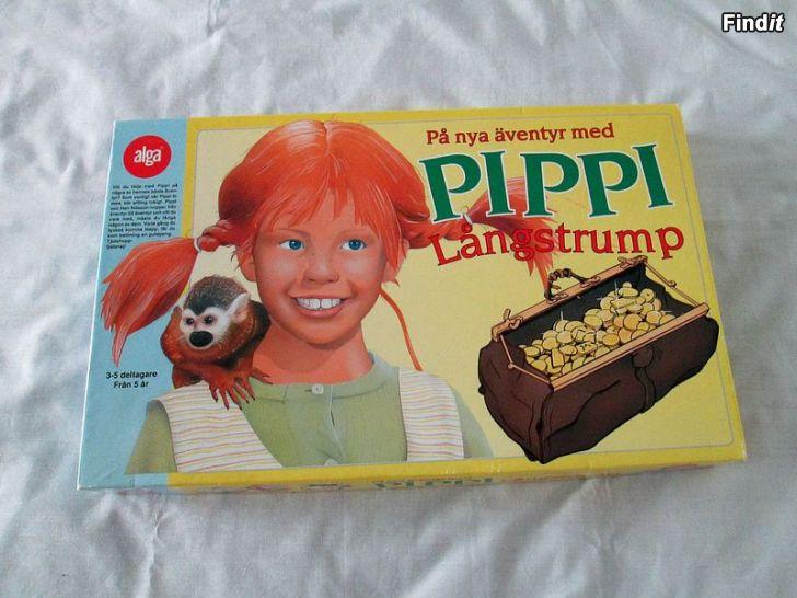 Säljes Brädspel På nya äventyr med Pippi Långstrump från 1992