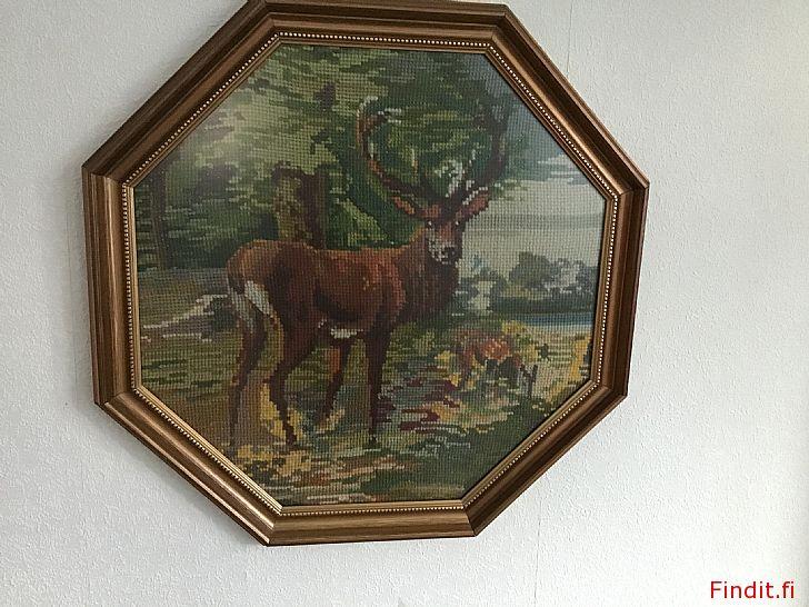 Säljes Vacker korsstygnstavla från 30-talet, konstnär Hjördis Granér