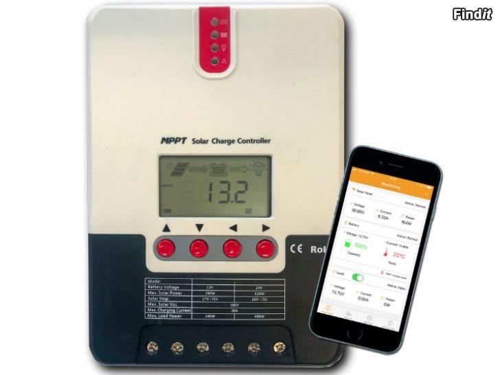 Säljes MPPT regulator 20A, 40A eller 60A med Bluetooth