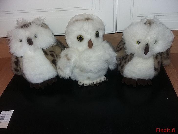 Myydään Pehmolelu pöllö 3 kpl -7e kpl