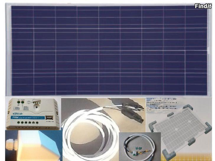 Säljes Solelsystem till husbil eller husvagn 110W, garanti, nytt