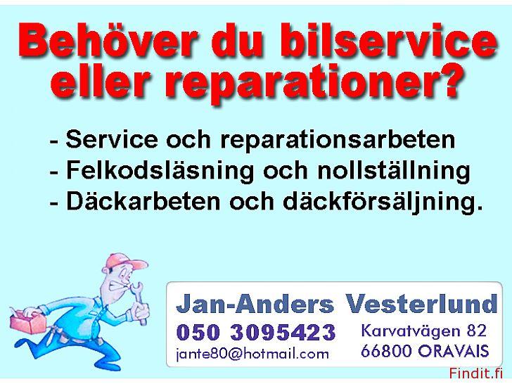 Säljes Service och däckförsäljning