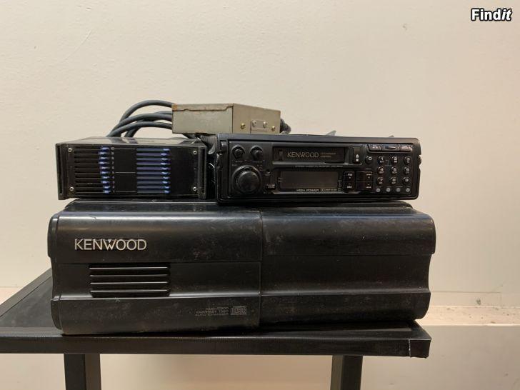 Säljes Retro Kenwood KRC 851D Radio-Kasett-CD-växlare paket