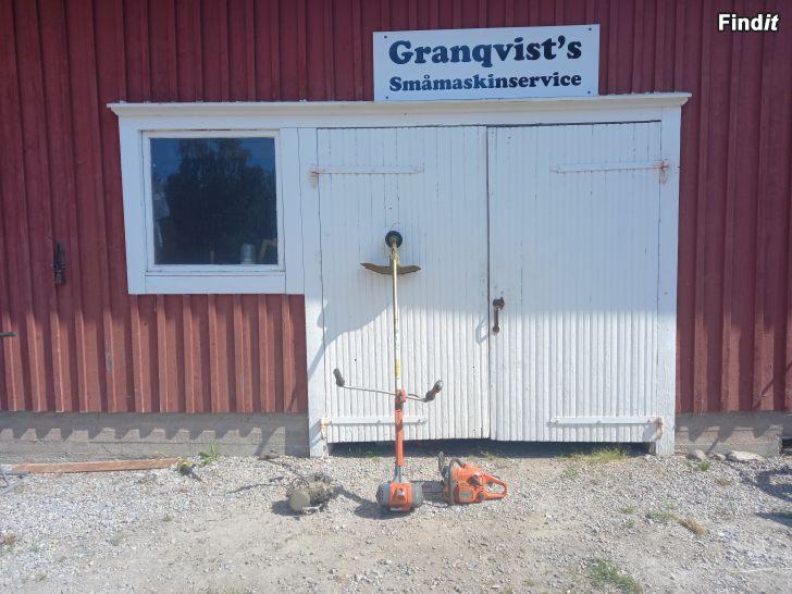 Säljes Granqvists småmaskinservice