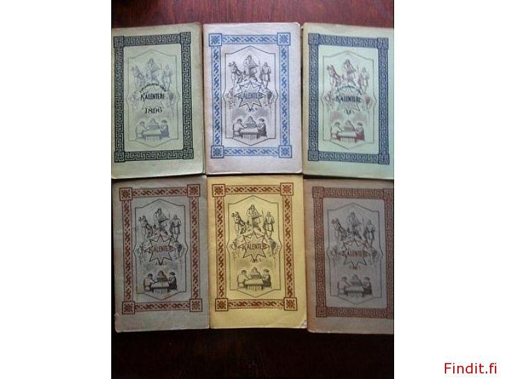 Myydään Kansanvalistus seuran kalenterit 1800-luku