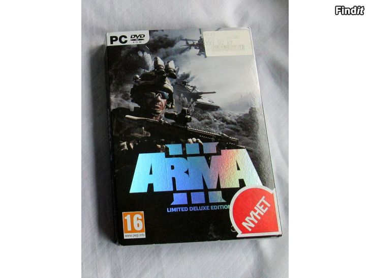 Myydään Videopeli Arma 3, Lim. Deluxe Edition, DVD-Rom, PC