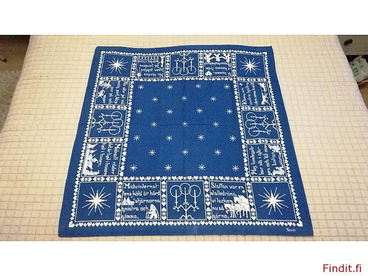 Säljes Fantastisk vacker blå/vit duk