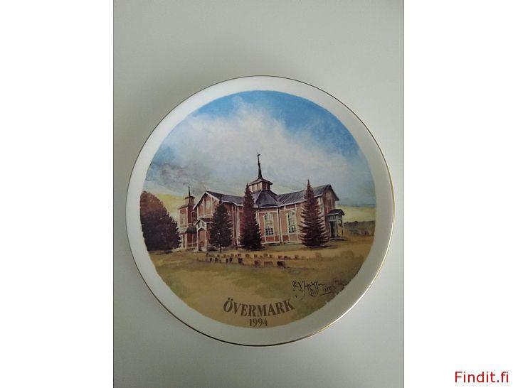 Säljes Fritz Jakobsson Samlartallrik Övermark kyrka