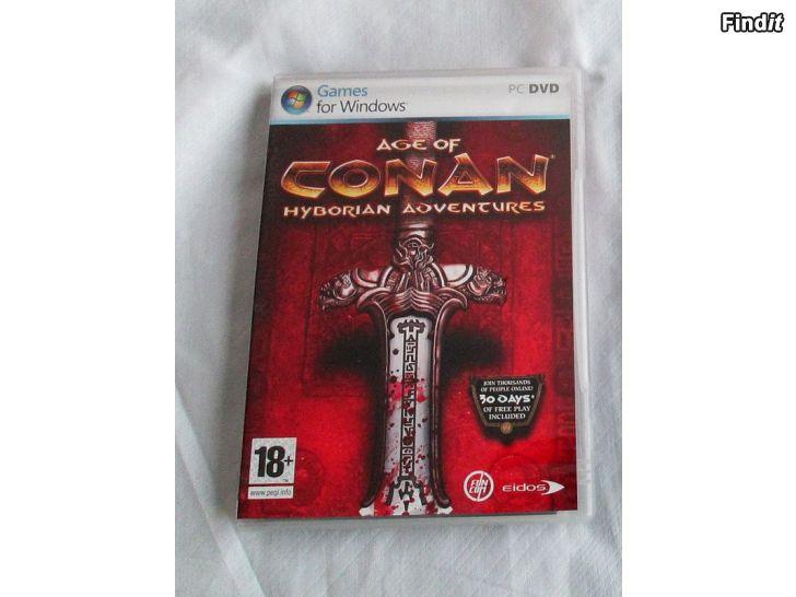 Myydään Videopeli Age Of Conan Hyborian Adventures, PC DVD