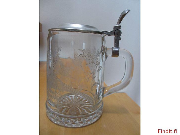 Säljes Glas-stop med tennlock