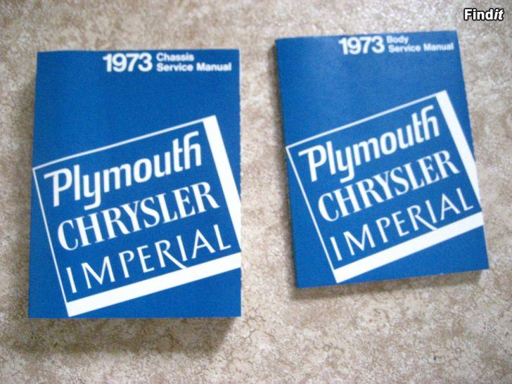 Myydään Plymouth Chassis ja Body Service Manual 1973